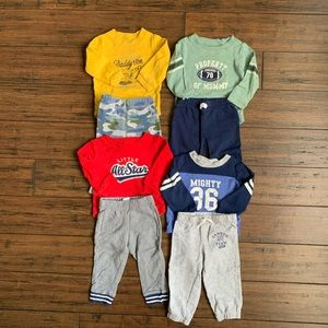 (4) 2 piece sets from Carters